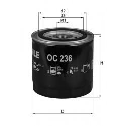Filtre à huile Mahle OC236