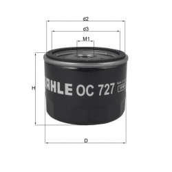 Filtre à huile Mahle OC727
