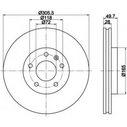 Disque Pagid 8DD 355...