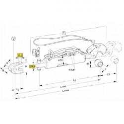 Nez de contresep LEMKEN au Carbure AgriCarb Ref 3401901/3401900