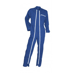 Combinaison double zip bleu...