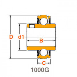 Roulement de palier 1020-20 G