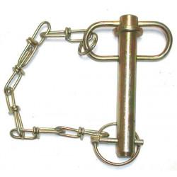 Axe d'attelage avec chaine