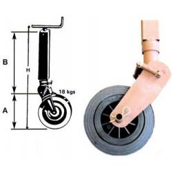 Béquille roue fer
