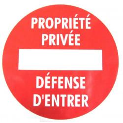 Disque « Propriété privée »