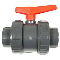 Vanne manuelle PVC 2 voies